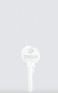 All White Dream Giving Key