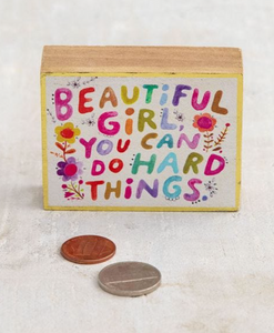 Beautiful Girl Tiny Block Keepsake