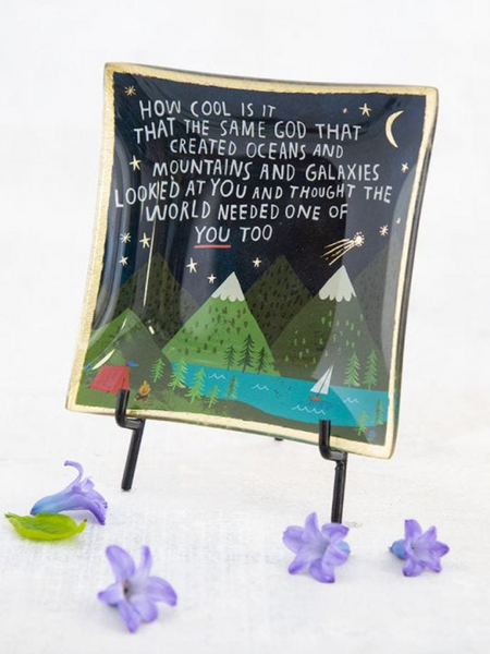 Mountain Glass Keepsake