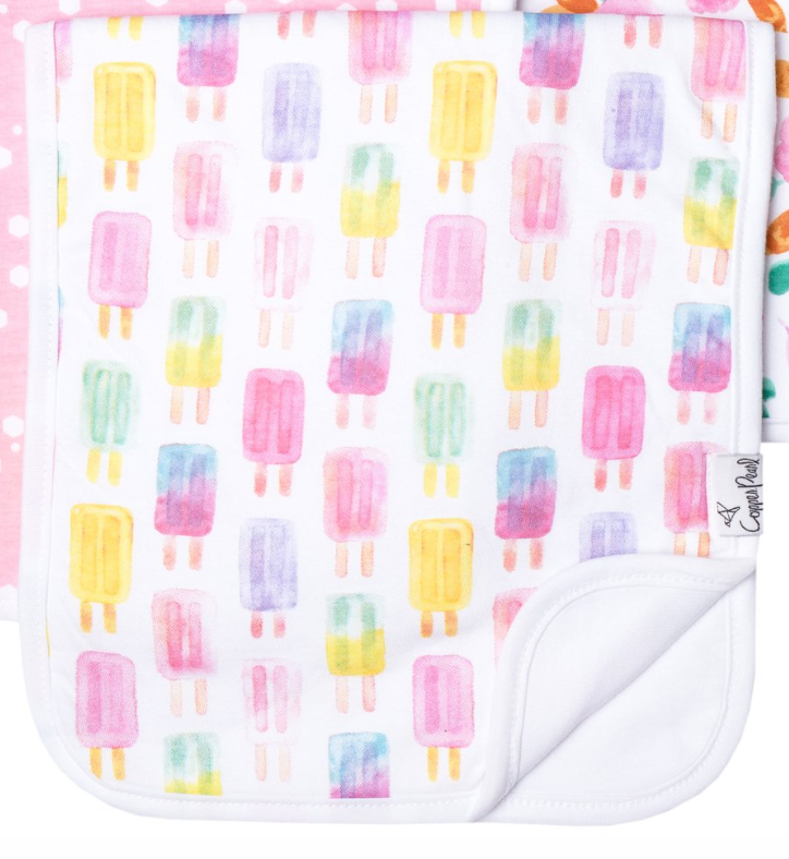 Ice Cream Burp Cloth