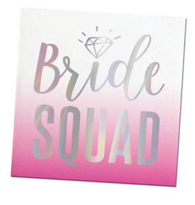 Bride Squad Beverage Napkins