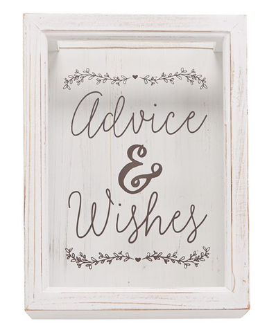 Advice and Wishes Wooden Keepsake Box
