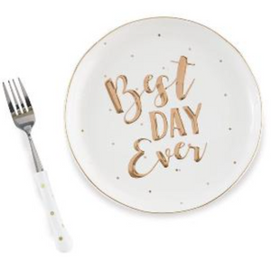 Best Day Ever Plate and Fork Set