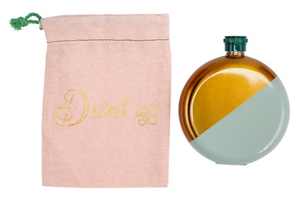 Mint and Gold Flask