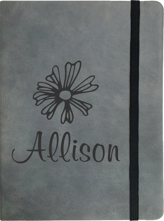 Personalized Grey Notebook