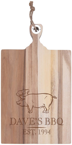 Personalized Acacia Cutting Board-BBQ