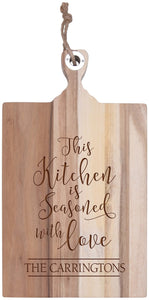 Personalized Acacia Cutting Board- Seasoned With Love