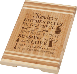 Personalized Small Bamboo Cutting Board