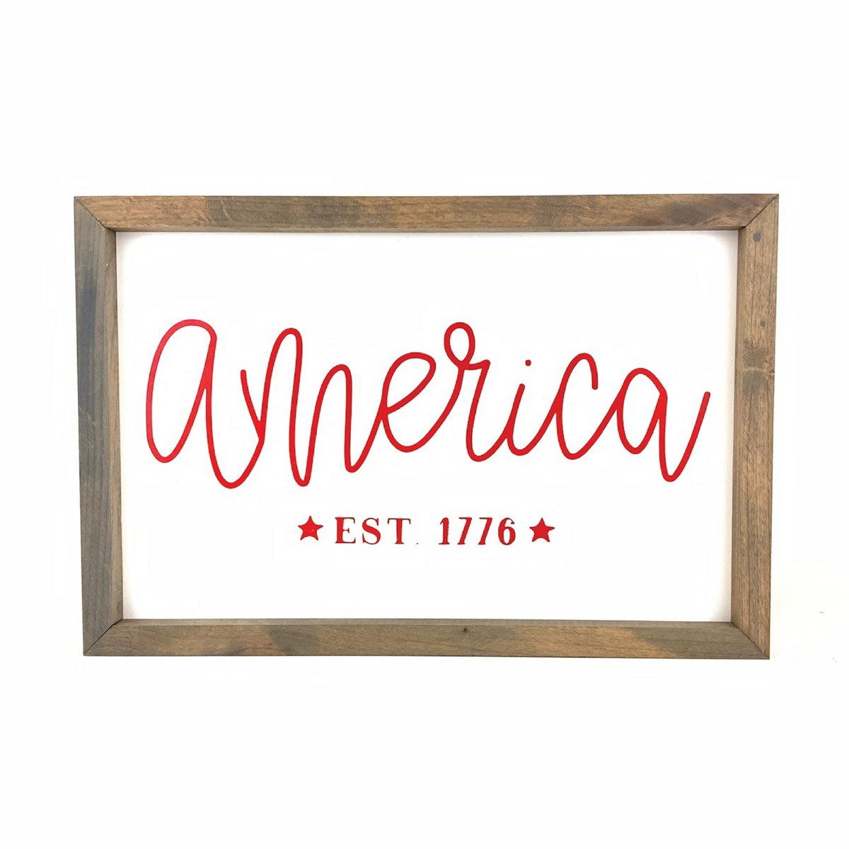 America Framed Sign