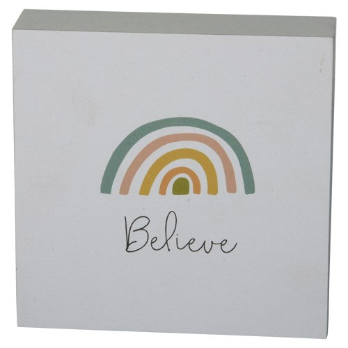 Believe Rainbow Sign
