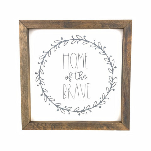 Home of the Brave Framed Sign