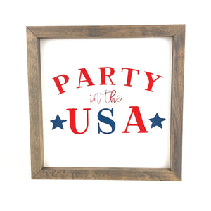 Party in the USA Framed Sign