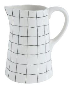 Ceramic Striped Pitcher