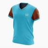 T-shirt homme manches courtes CYAN/CHOCOLAT