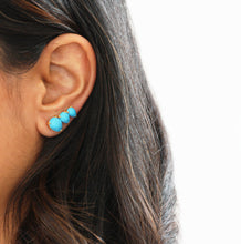 Main Ear Climber Earring in Turquoise