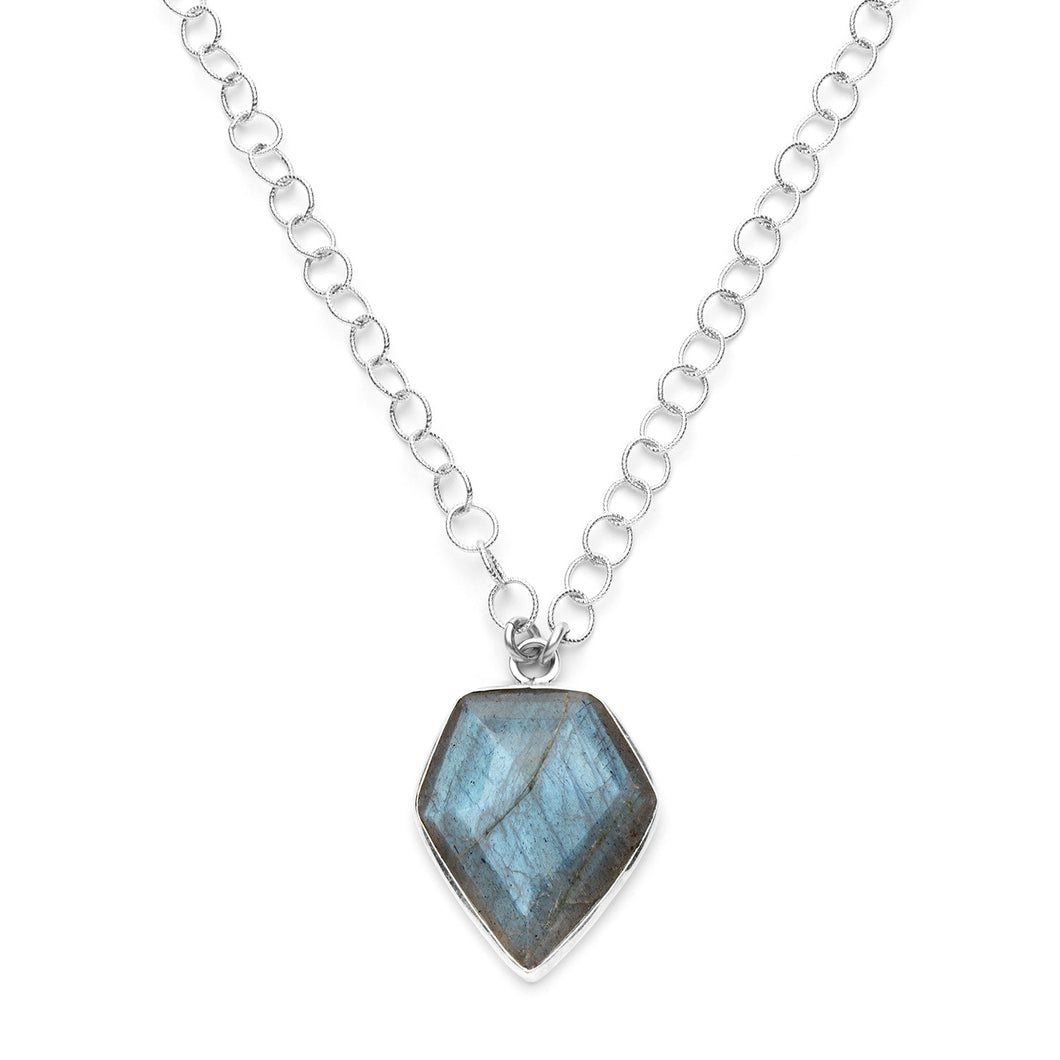 Mackenzie Necklace in Labradorite