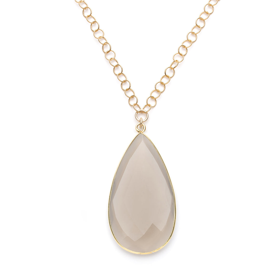 Sophia Necklace in Grey Moonstone