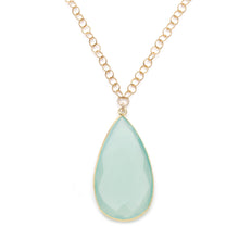 Sophia Necklace in Aqua Chalcedony