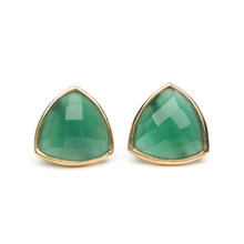 Georgia Earring in Green Onyx