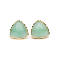 Georgia Earring in Aqua Chalcedony