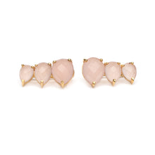 Main Ear Climber Earring in Pink Chalcedony