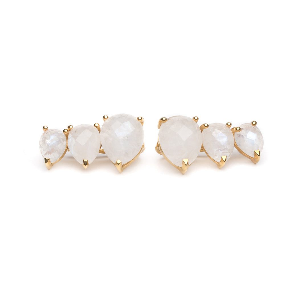 Main Ear Climber Earring in Moonstone