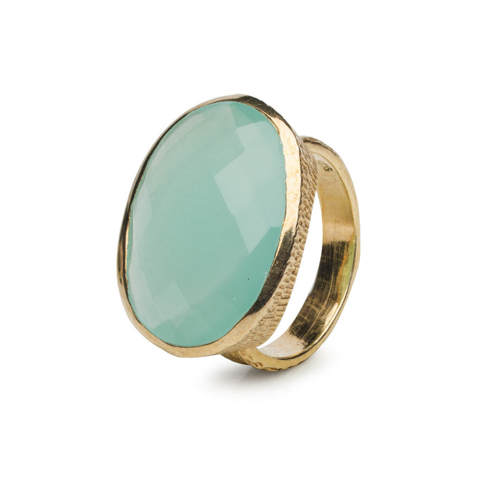 Bentley Ring in Aqua Chalcedony