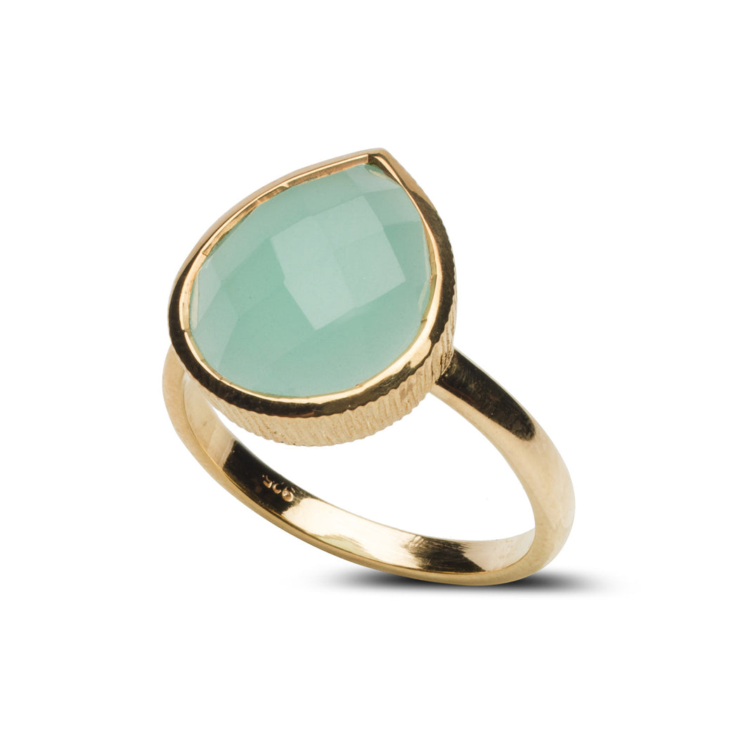 Water Ring in Aqua Chalcedony