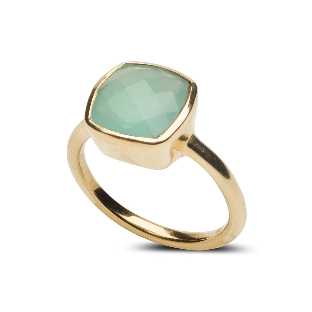 Fairmont Ring in Aqua Chalcedony
