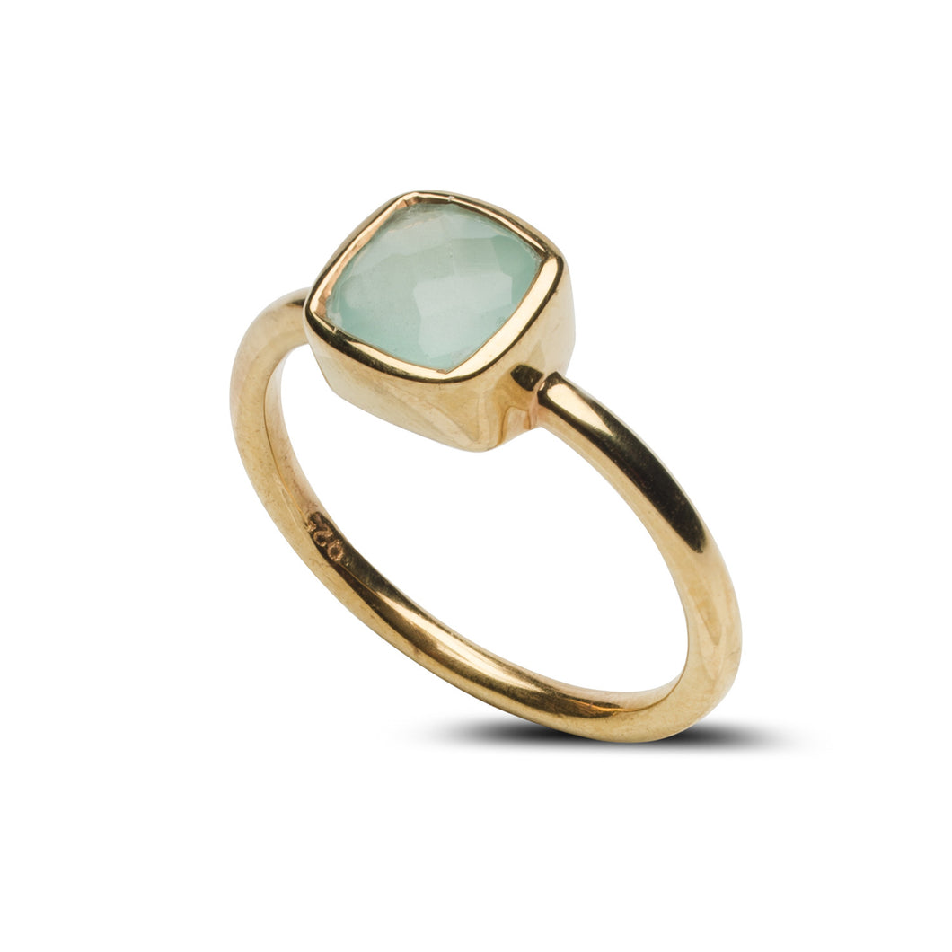 Fairmont Mini Ring in Aqua Chalcedony