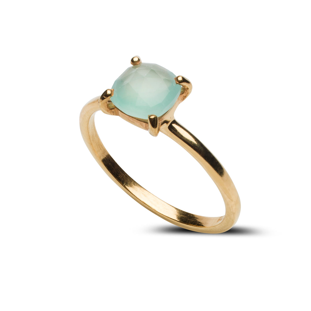 Tiffany Ring in Aqua Chalcedony