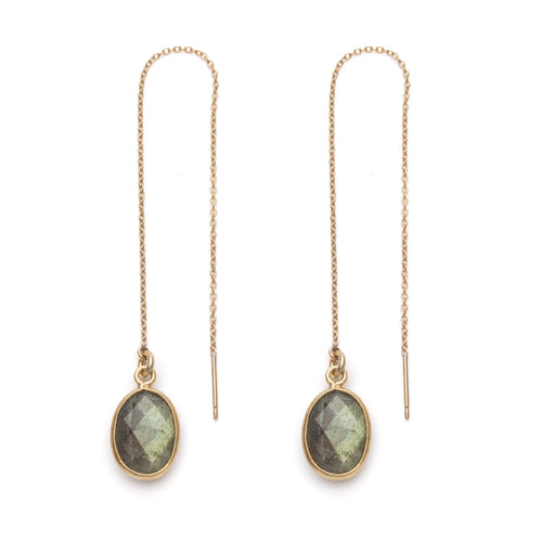 Thurlow Threader Earring in Labradorite
