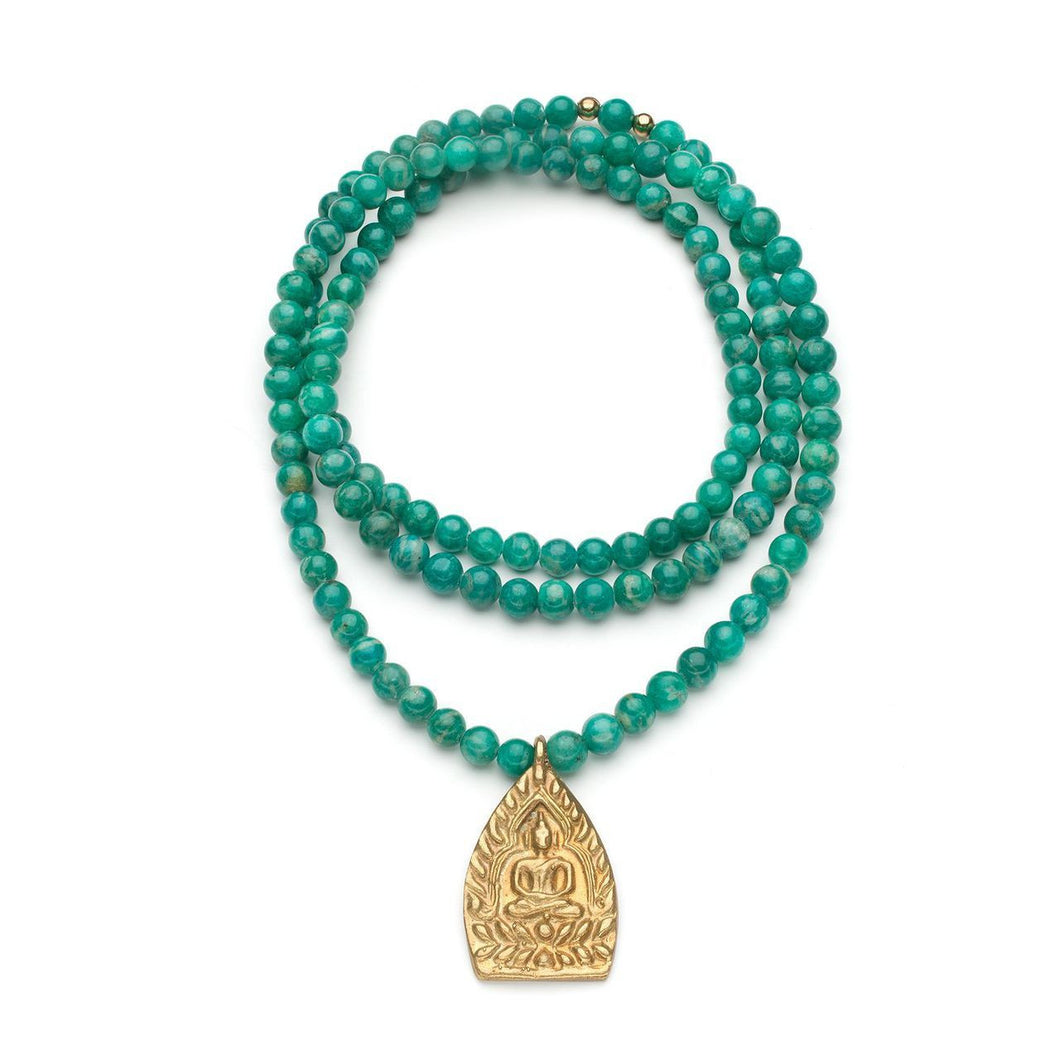 Keefer Necklace in Amazonite