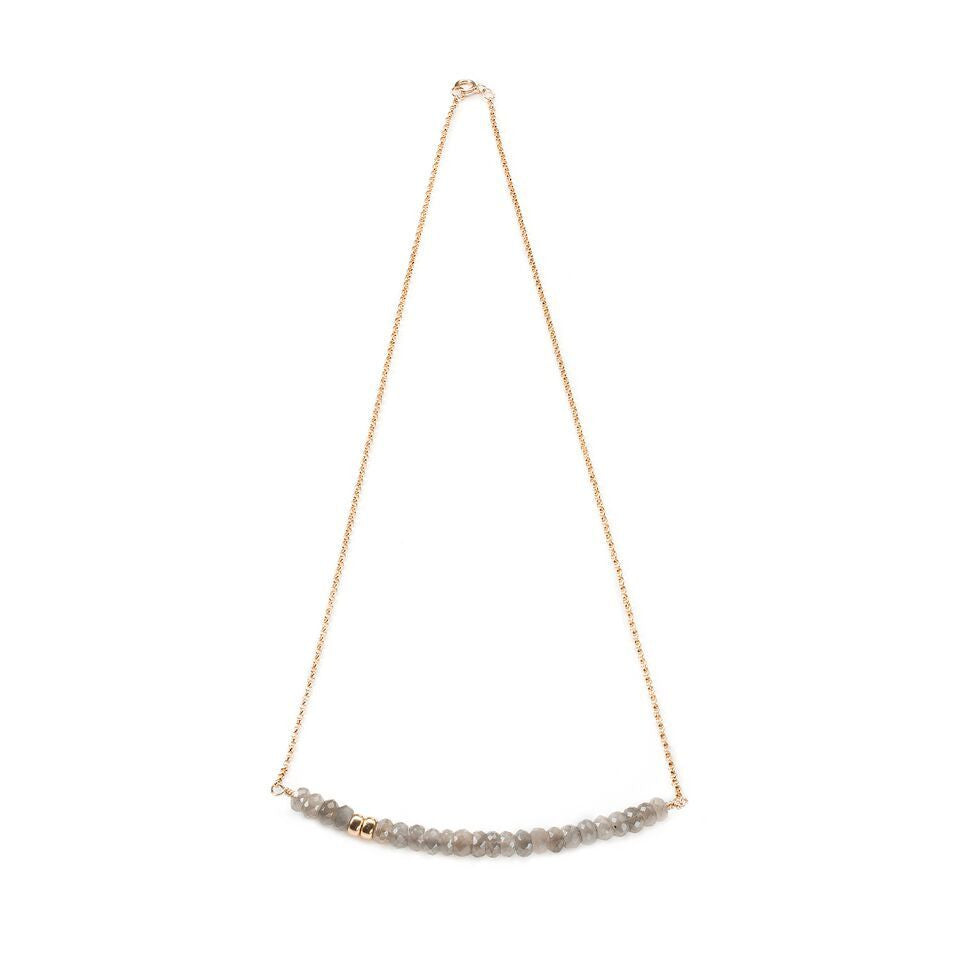 Robson Necklace in Grey Moonstone