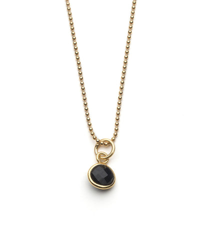 Aubrey Necklace in Black Onyx