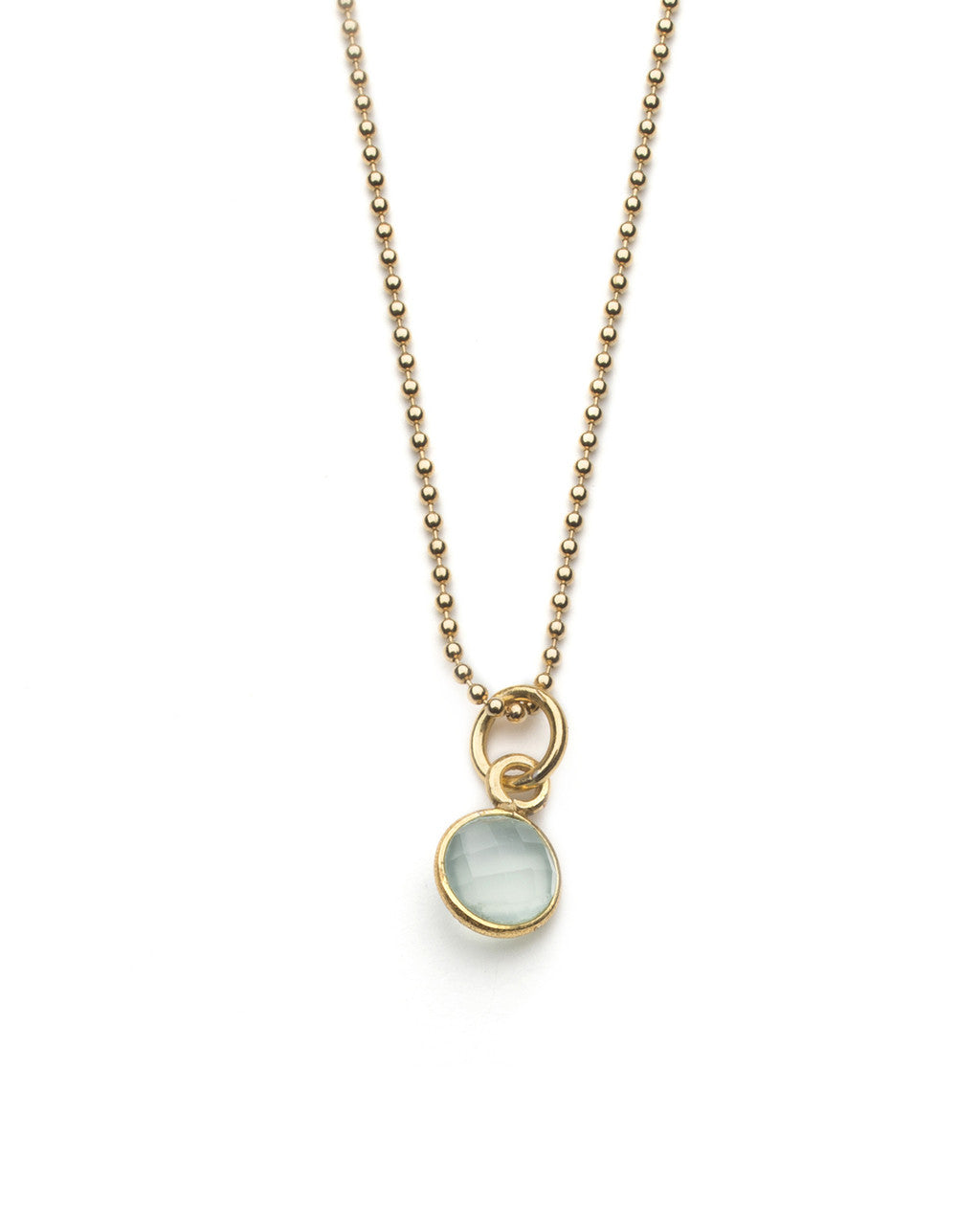 Aubrey Necklace in Sea Green Chalcedony