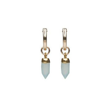 Acadia Earrings in Aqua Chalcedony