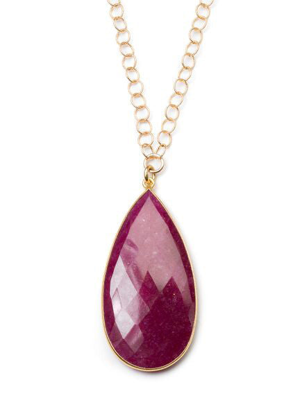 Sophia Necklace in Ruby