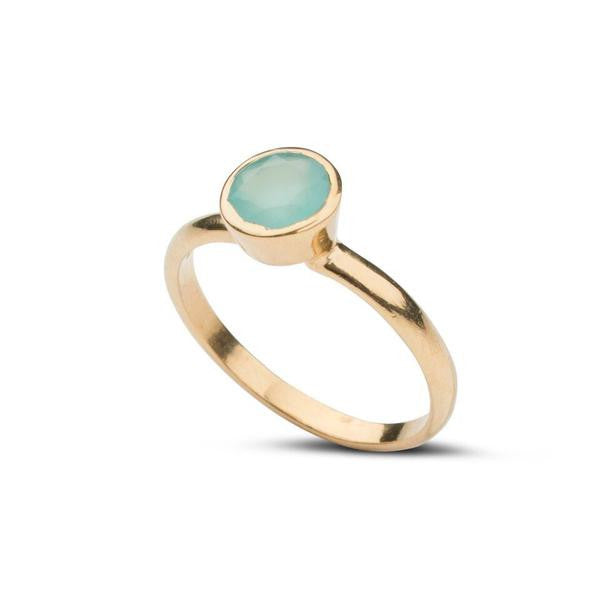 Aubrey Mini Ring in Aqua Chalcedony