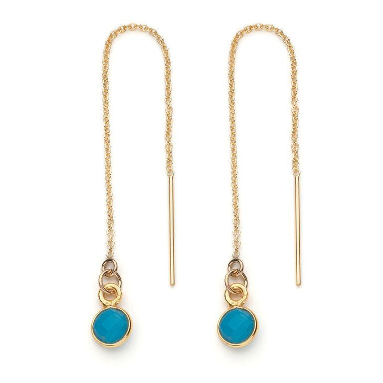 Aubrey Threader Earring in Turquoise
