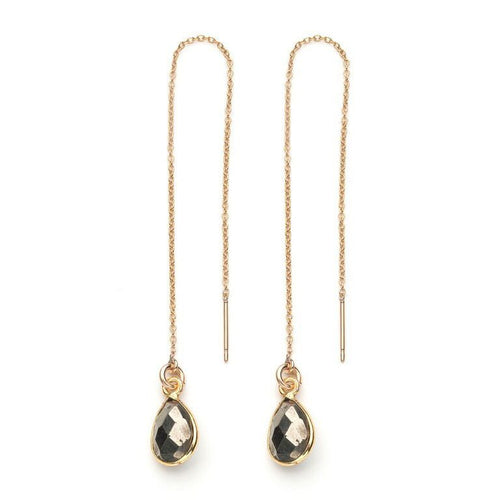 Water Threader Earring in Pyrite