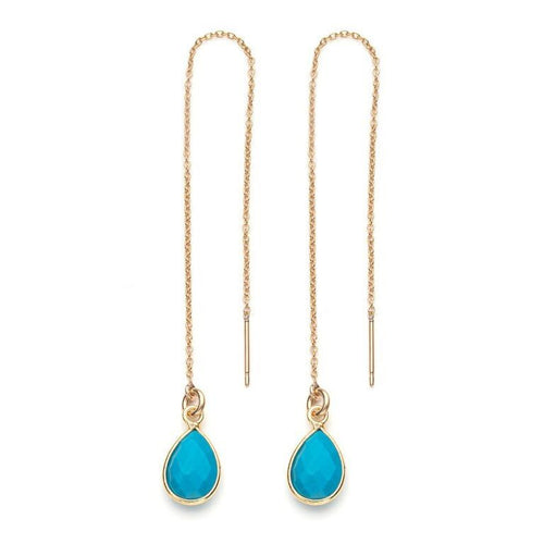 Water Threader Earring in Turquoise