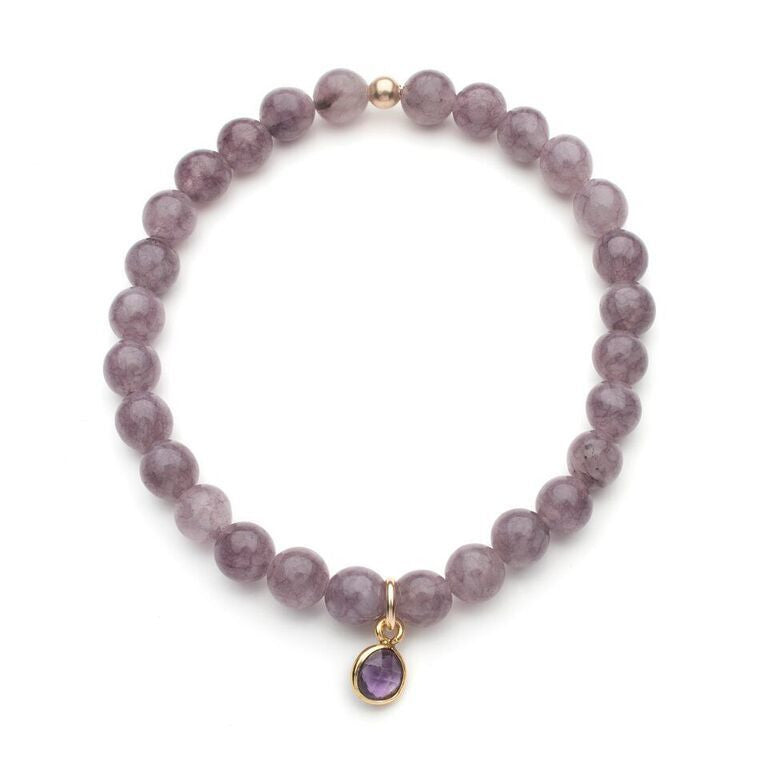 Burrard Bracelet in Purple Jade