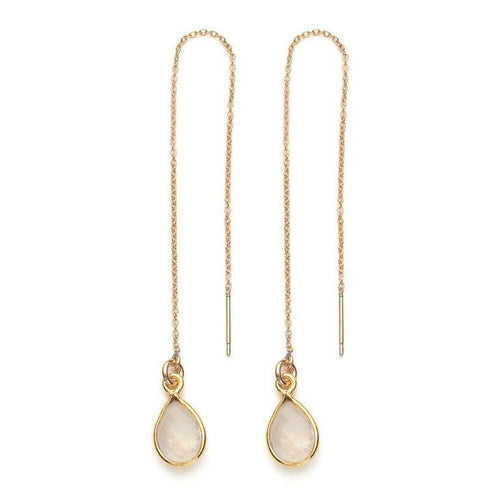Water Threader Earring in Moonstone