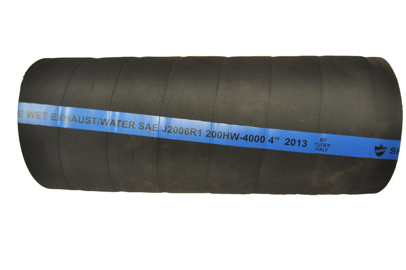 "4"" Marine Softwall Exhaust Hose- 19007"