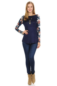 Always In Bloom Raglan Top