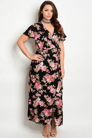 Knock Them Dead Black Floral Maxi Dress