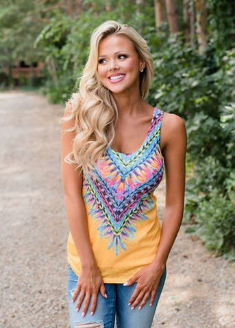 Never Younger Aztec Tank Top