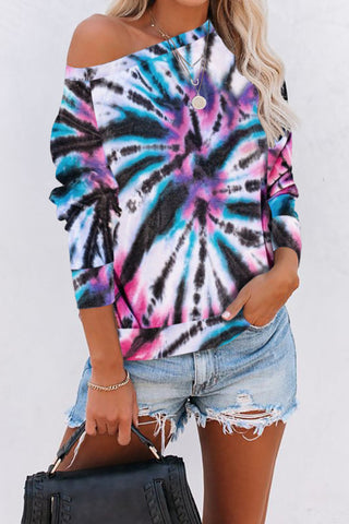 Take Me Back Tie Dye Pullover Sweatshirt