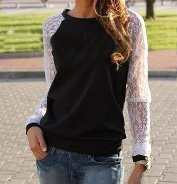 Something About Us Long Sleeve Lace Sweater